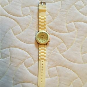 Geneva light yellow jelly watch